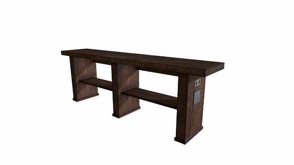 Low Poly Table - 3DOcean Item for Sale