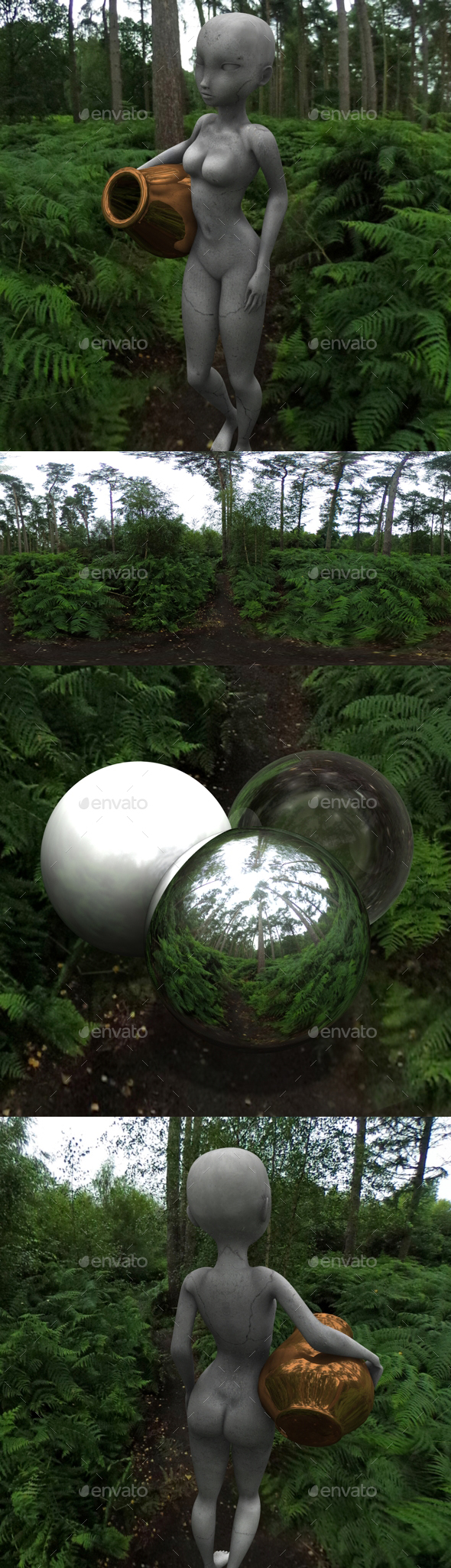 Fern Forest HDRI - 3DOcean Item for Sale