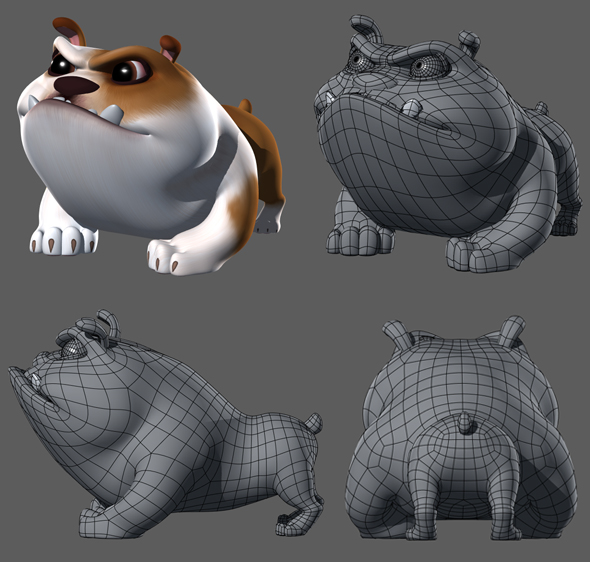 3DOcean Cartoony Bulldog 17129389