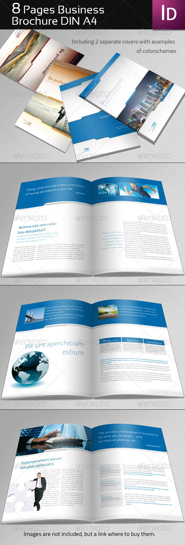 8 page business brochure graphicriver for 2 page brochure template