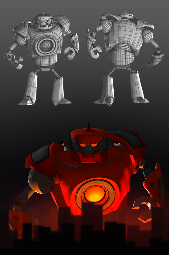 3D EVIL ROBOT - 3DOcean Item for Sale