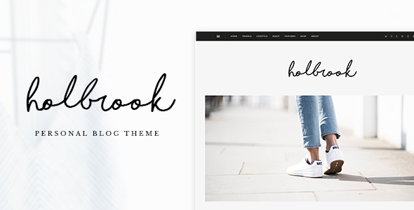 Holbrook - Personal Blog PSD Template