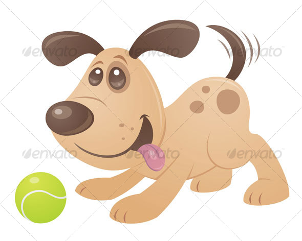 Playful Puppy - Animals Characters