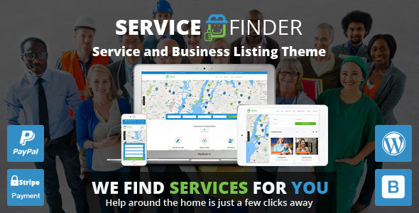 Service Finder - Service and Business Listing WordPress Theme