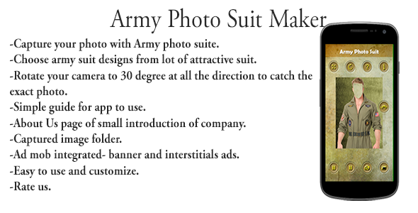 Army Photo Suit Editor For Male Female Android App