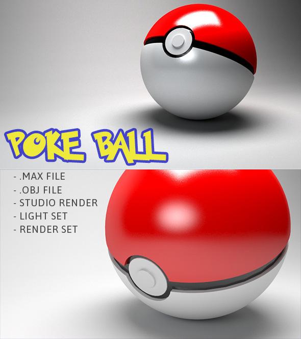 Pokeball - Pokemon 3d model - 3DOcean Item for Sale