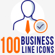 100 Corporate line Icons