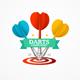 Darts Sign Set. Vector