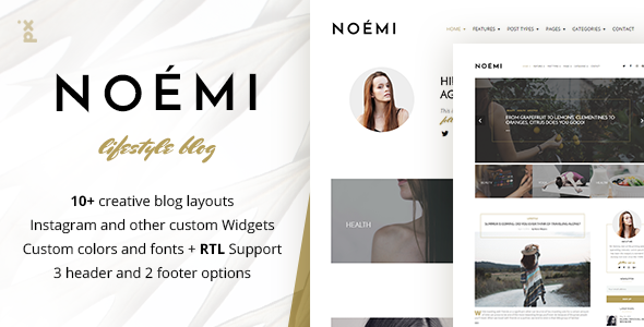 Download Noemi - Pure & Simple WordPress Blog
