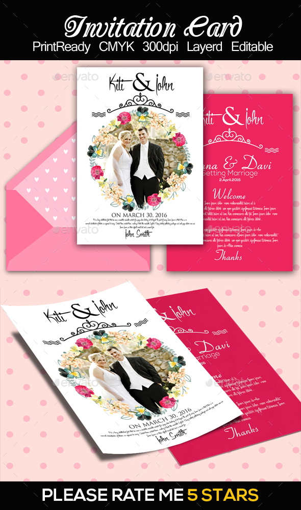 Wedding Invitation Card Templatess