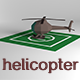 Low Poly Helicopter and Area
