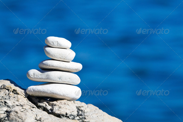 Pebbles stack balance - Stock Photo - Images