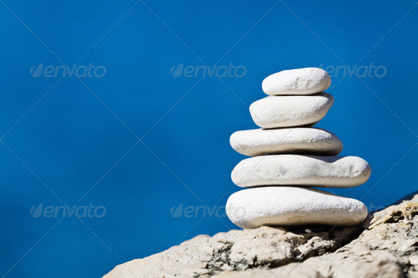 Stone stack balance - Stock Photo - Images