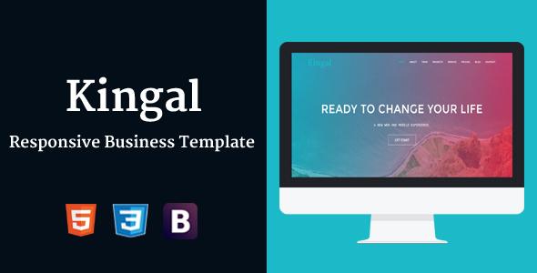 Kingal - Responsive Business Template
