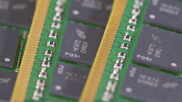 Download Many DDR4 Computer Memory Modules (RAM) Sliding Video,  View nulled download