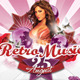 Retro Music Flyer / Poster Template - GraphicRiver Item for Sale