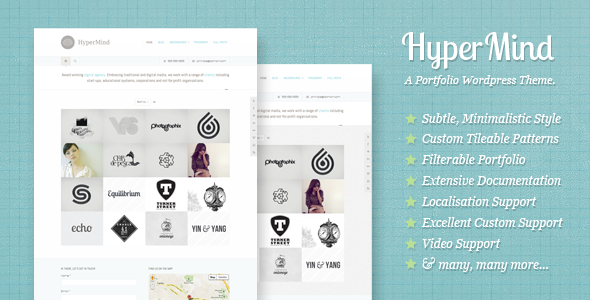 HyperMind: Clear and Subtle WP Portfolio Theme