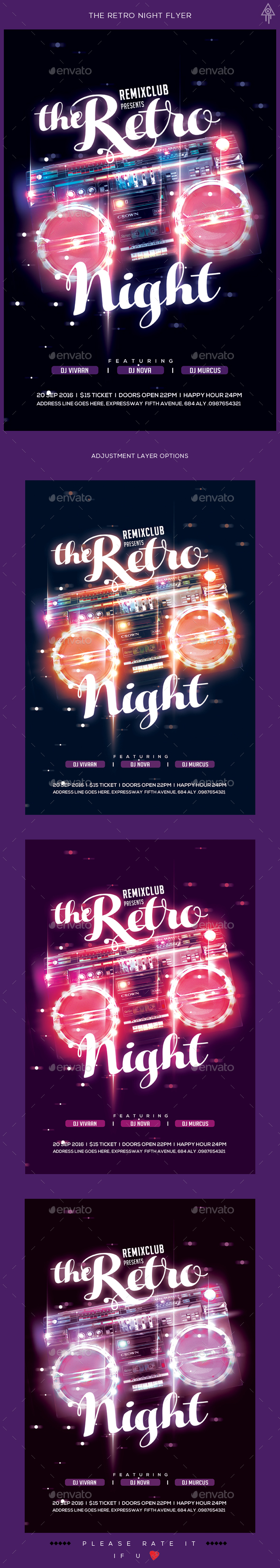 The Retro Night Flyer