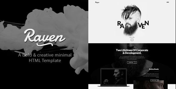 Raven - Minimal Blog HTML Template
