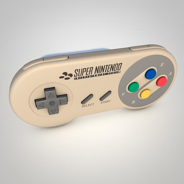 3DOcean Super Nintendo Controller 17165675