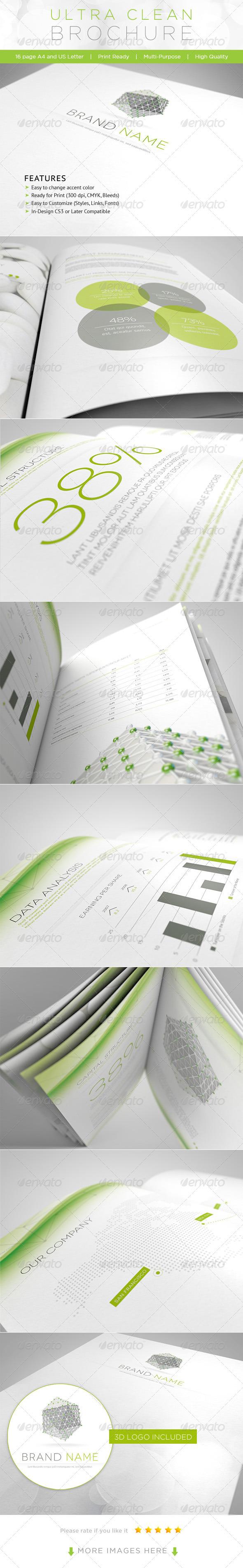 GraphicRiver Ultra Clean Brochure 1708031