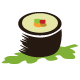 Maki Sushi Artistic Logo