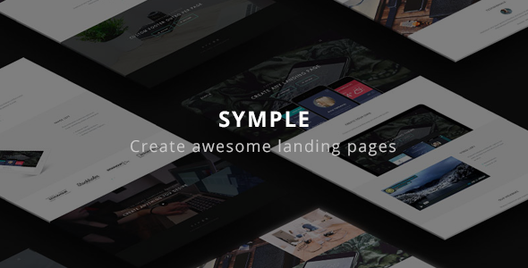 Download Symple - Clean & Minimal Landing Page Theme nulled download