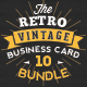 Mega 10 in 1 Bundle - Retro Vintage Business Card Template