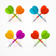 Color Darts Set