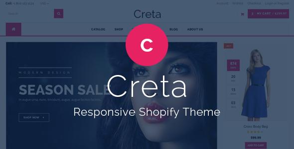 Creta - Responsive Shopify Theme