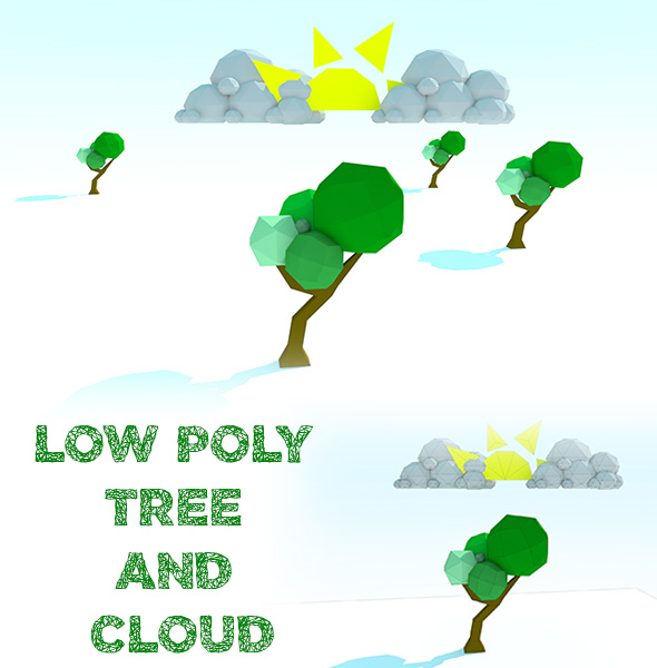 3DOcean Low Poly Tree and Cloud 17170534