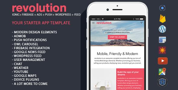 revolution - complete Ionic app