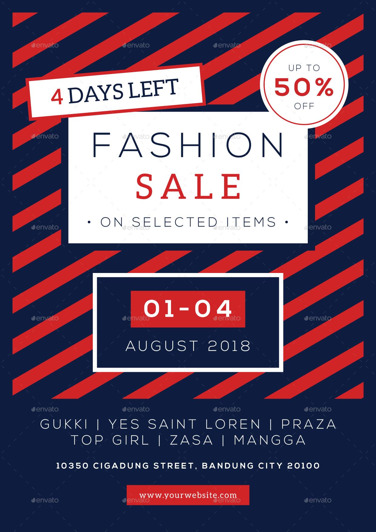Fashion Sale Flyer by bigmidin | GraphicRiver