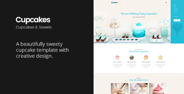 Download Deliver Cupcake | Sweets & Cupcakes HTML Template