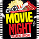 Movie Night Flyer Template PSD