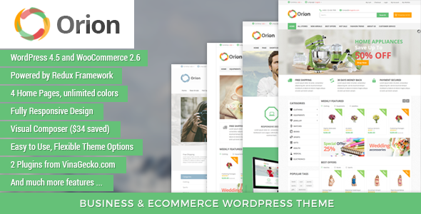 Download VG Orion - Business & eCommerce WordPress Theme