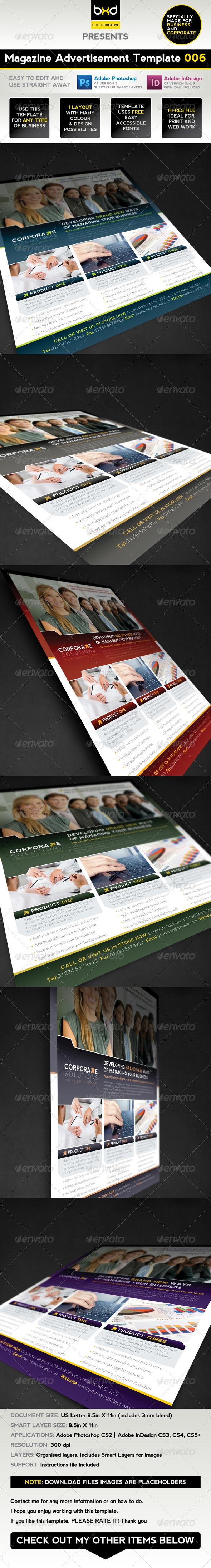 GraphicRiver Magazine Advert Template 006 1709843
