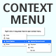 Native JavaScript Context Menu