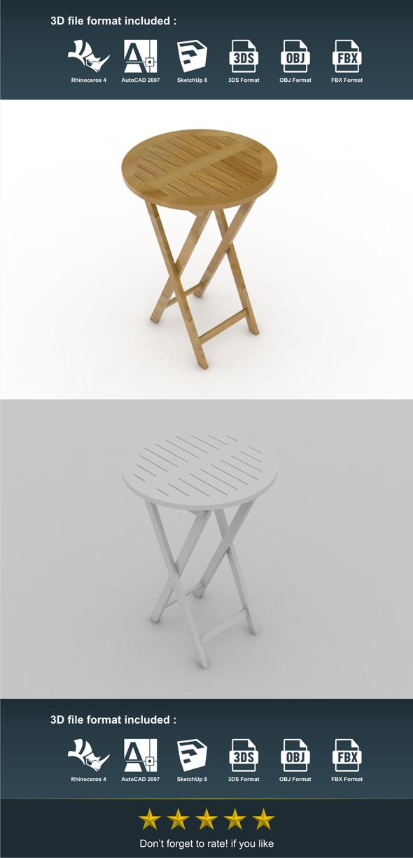 Bar Table - 3DOcean Item for Sale