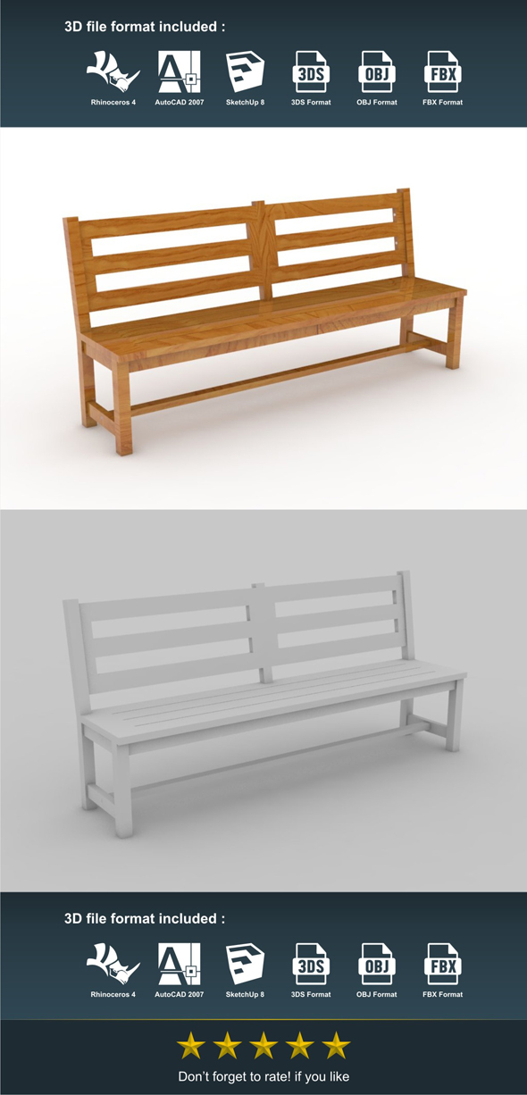 3DOcean Lurong Bench 17187516
