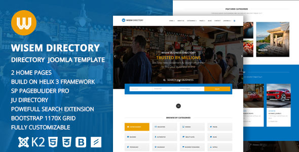 Image of Wisem – Responsive Directory template for Joomla