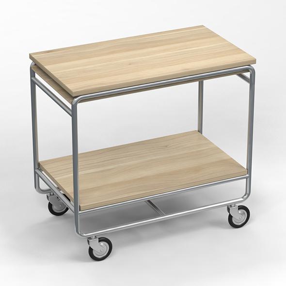 3DOcean Trolley Table 17160730