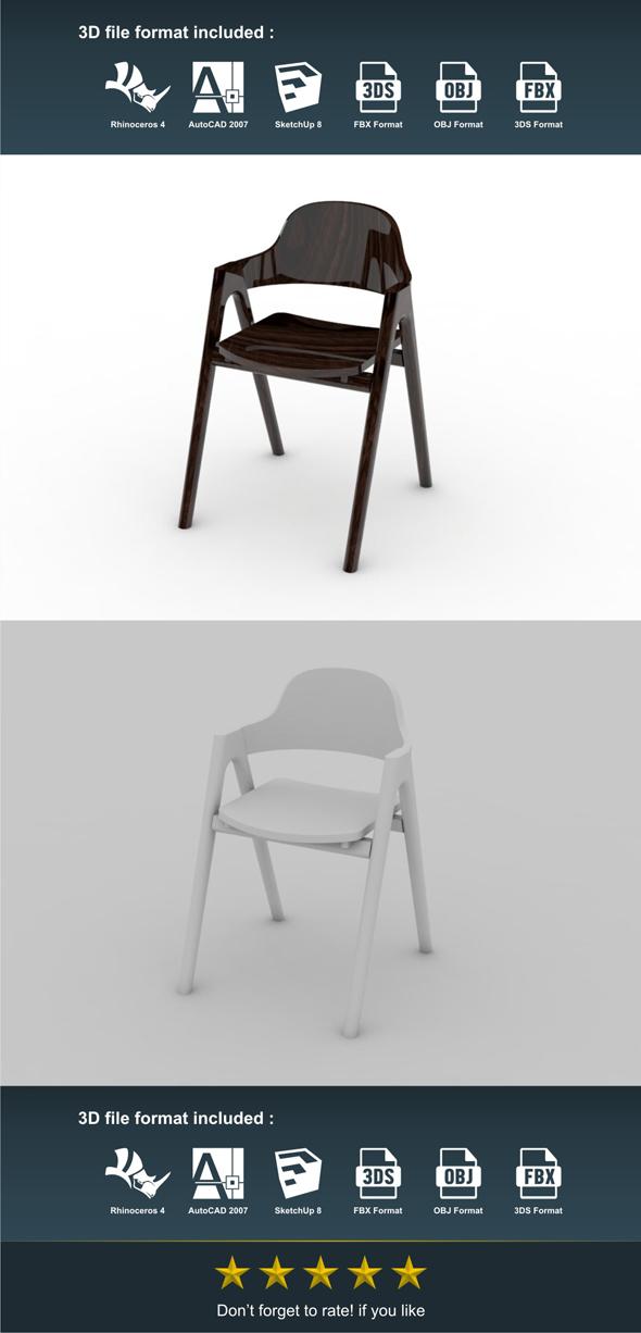 3DOcean Korsi V Dining Chair 17190504