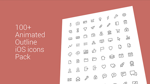 100+ Animated iOS Outline Icons Pack Download