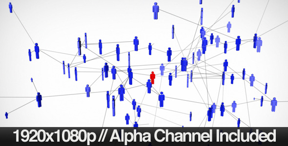 VideoHive Social Nework of People Expanding & Alpha Channel 1710919