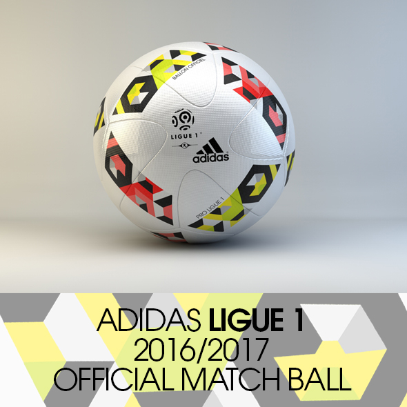 3DOcean Adidas France Ligue 1 2016 2017 Official Match Ball 17194444