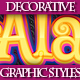 Set of Bright Colorful Graphic Styles for Design