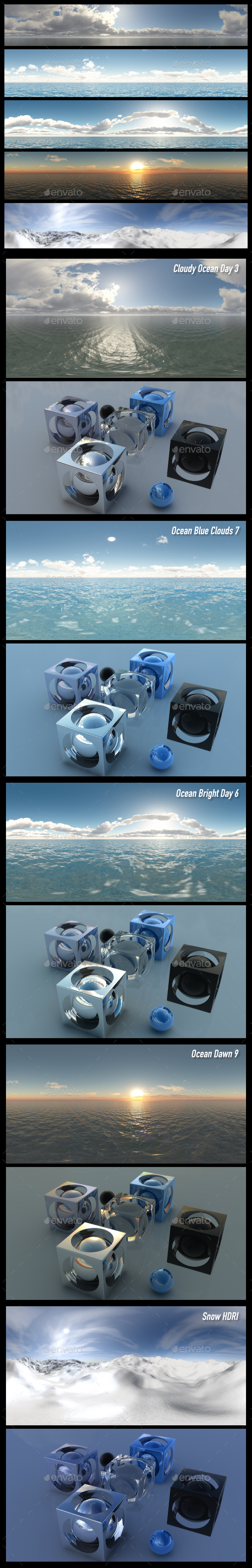 HDRI Pack 10 - 3DOcean Item for Sale