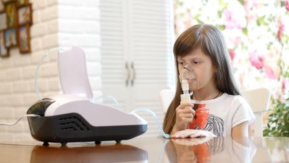 Download Little Girl Making Inhalation nulled download