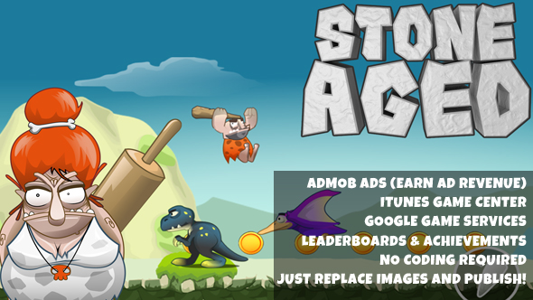 Download Stone Aged Source Code (Construct2)